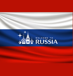 flag of russia fabric design background vector image