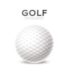 golf tournament poster 3d ball vector image
