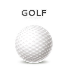 golf tournament poster 3d golf ball vector image