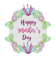 Happy mother day symbol icon vector