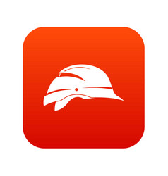 Hardhat icon digital red vector