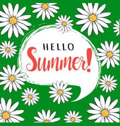 Hello summer greeting card vector
