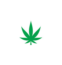 Hemp leaf isolated icon vector