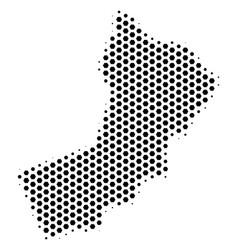 Hex tile yemen map vector