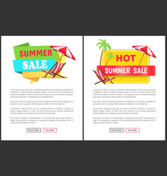 hot summer sale promotional vertical banners set vector image