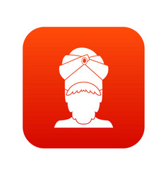 indian man icon digital red vector image