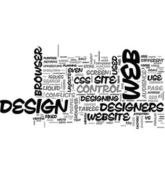 issues on web design text background word cloud vector image