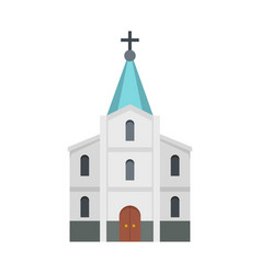 kirche icon flat style vector image