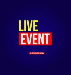 Live event template design vector