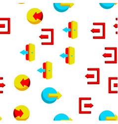 Logout button seamless pattern vector