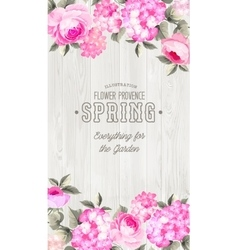 luxurious floral card vector image