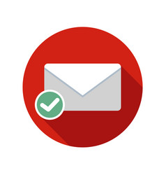 Mail sent icon email icon with long shadow vector