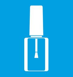Nail polish bottle icon white vector