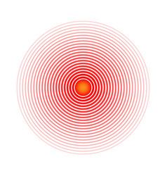 pain circle red rings symbol throbbing pain vector image