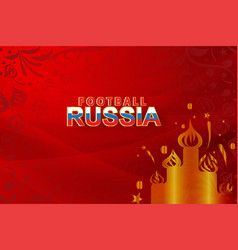 paper art of world russian red soccer 2018 with vector image