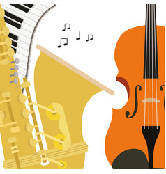 Pattern musical instruments icon vector