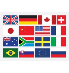 Popular Flat Flags vector