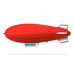 red blimp vector image