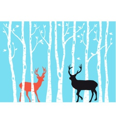 Reindeer Christmas card vector