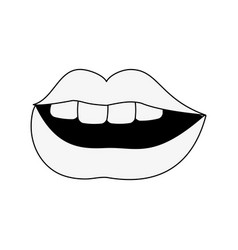 sexy lips cartoon vector image
