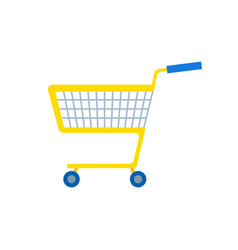 shopping cart or shop supermarket trolley baskets vector image