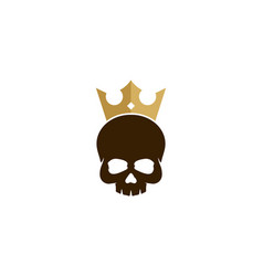 skull king logo icon design vector image