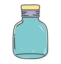 Small mason jar preserve style vector