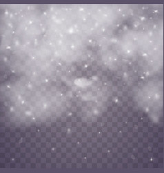 snow clouds or shrouds vector image