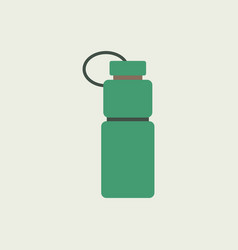 sports water bottle icon flat design vector image