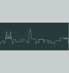strasbourg single line skyline vector image
