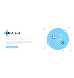 strategy icon banner outline template concept vector image
