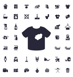 T shirt icon vector