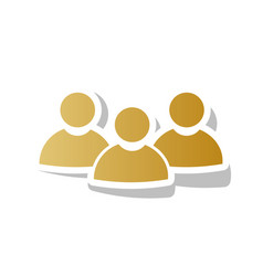 Team work sign golden gradient icon with vector