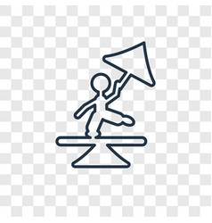 tightrope walker man concept linear icon isolated vector image