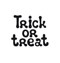 trick or treat halloween theme handdrawn vector image