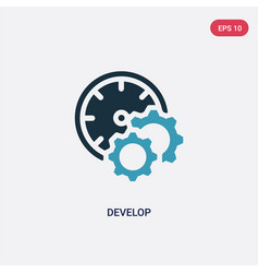 two color develop icon from time management vector image