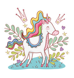 Unicorn on clouds vector