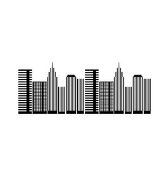 urban buildings skyscrapers architecture vector image