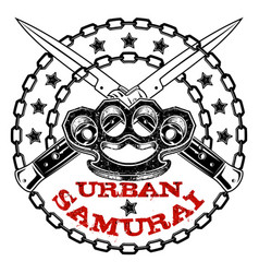 urban samurai 0009 vector image