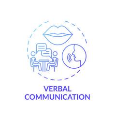 Verbal communication dark blue gradient concept vector