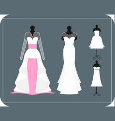 Wedding bride dress elegance style celebration vector