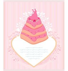 wedding cake card design vector image