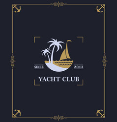 Yacht club 36 vector