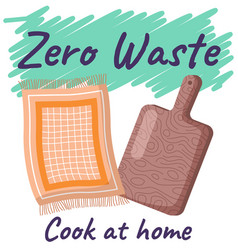 zero waste concept cook at home hand drawn vector image