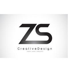 Zs z s letter logo design creative icon modern vector