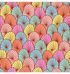 Abstract hand drawn circle seamless vector image vector image