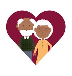 elderly couple design vector image
