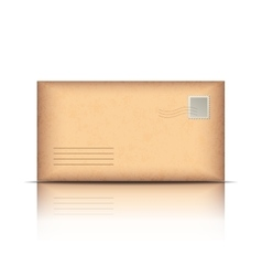 Old envelope isolated on white vector image