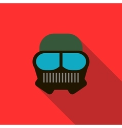 Paintball mask icon flat style vector image vector image
