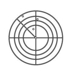 radar black color icon vector image